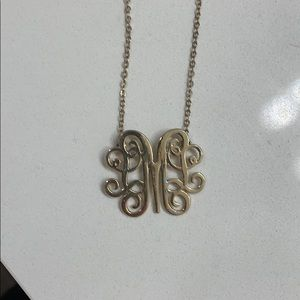 ⭐️'M' monogram necklace